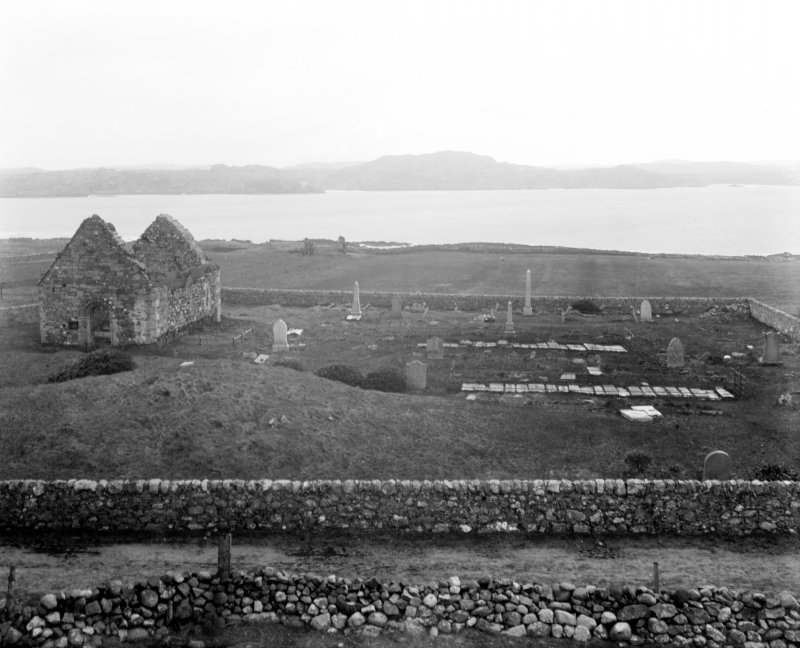 Iona, St Oran's Chapel & Relig Odhrain. View from West.