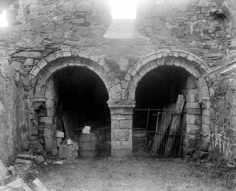 Iona, Iona Abbey,interior. View of chapter house.