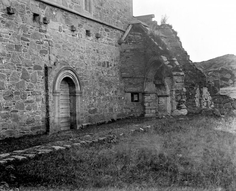 Iona, Iona Abbey. View of cloister garth.