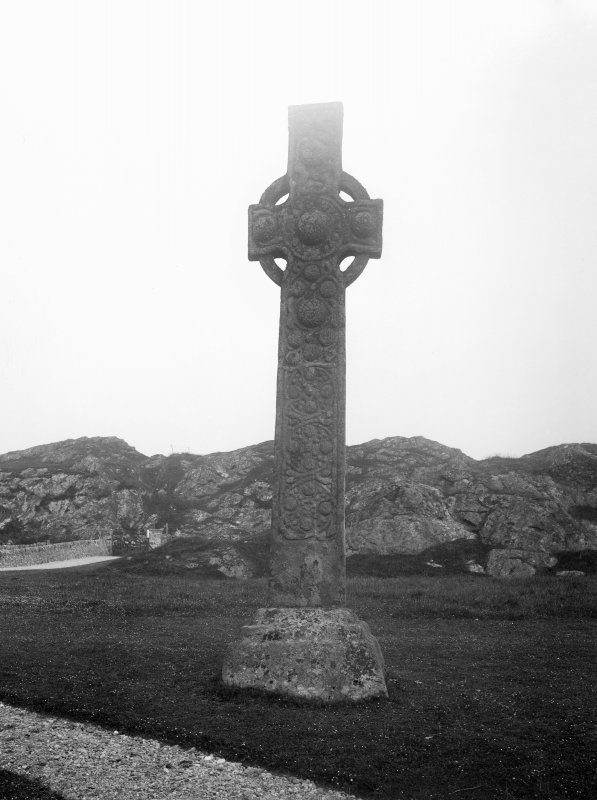 Iona, St Martin's Cross. View of East face.