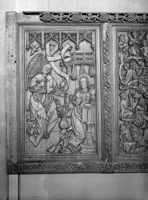 Detail of Beaton Panel depicting the annunciation.