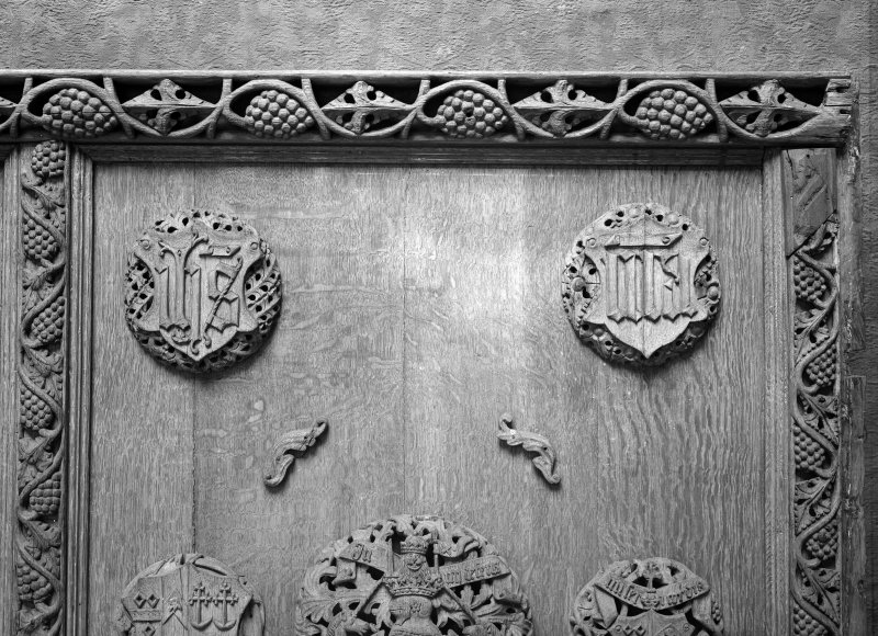Detail of Beaton Panel studded with bosses.