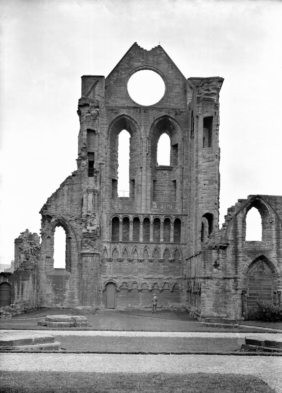 Interior view of S transept, Arbroath Abbey, from NE.
