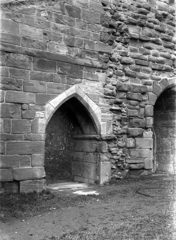 Historic photographic detail of doorway.