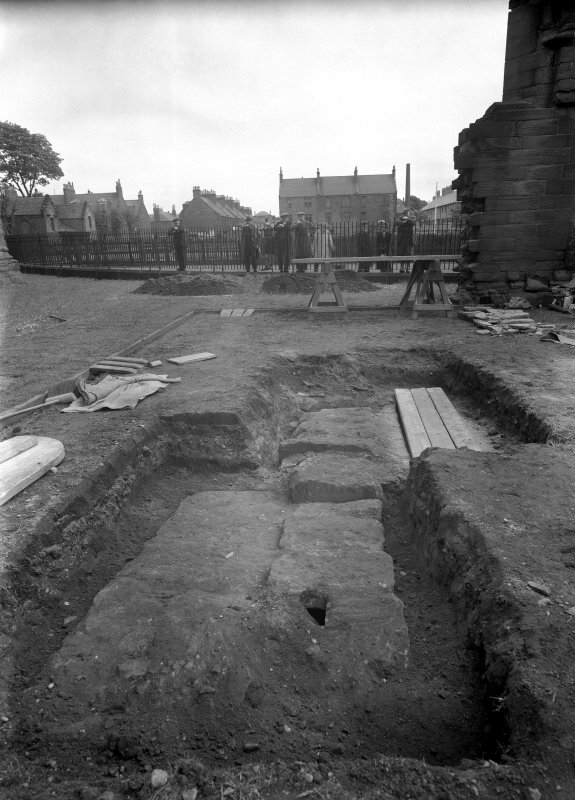 View of excavated grave.