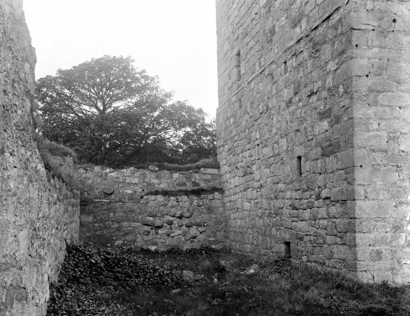 North curtain wall, west of keep.