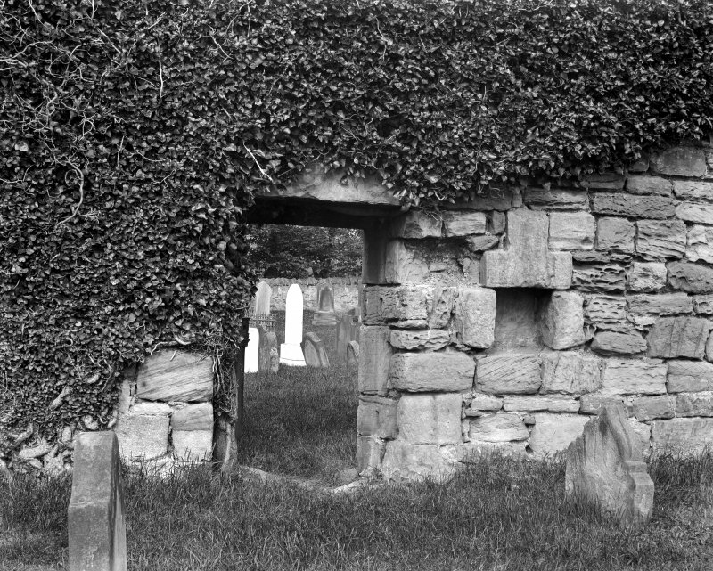 Interior-view of doorway in North wall & recess to east