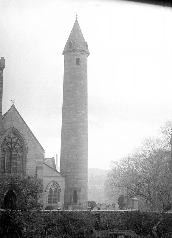 General view of round tower with W gable.