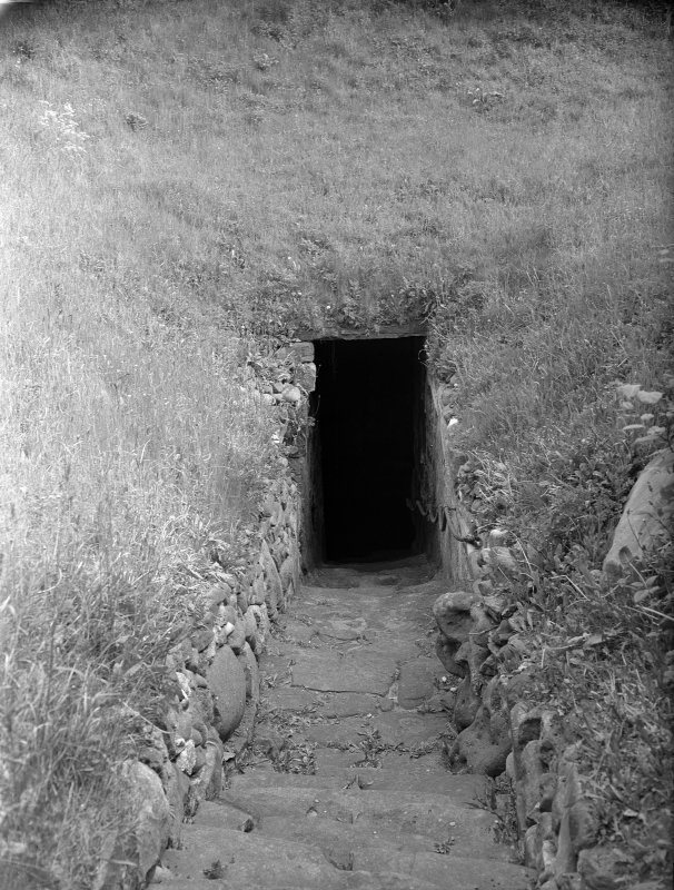 View of entrance to well.