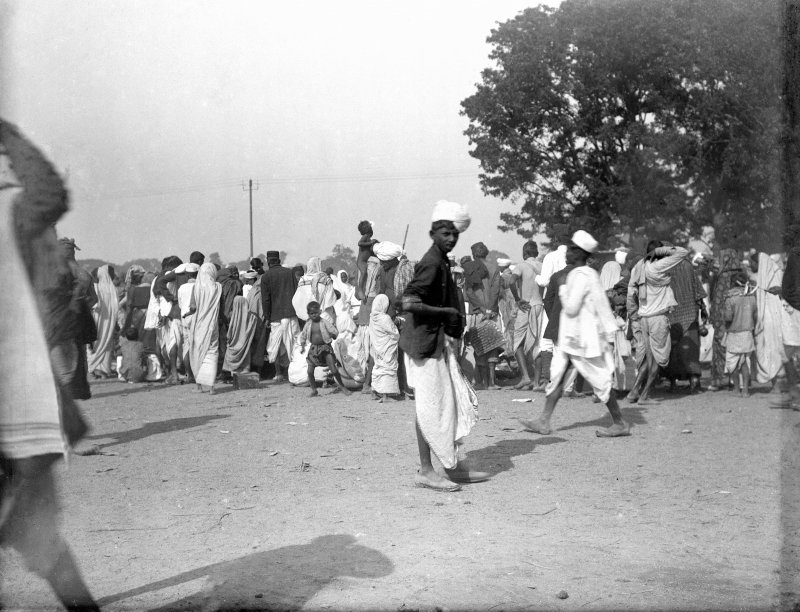 Group, possibly on the Maidan, Kolkata.