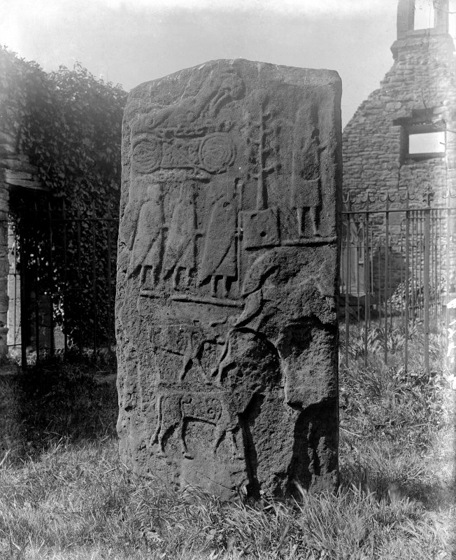 Back view of the Eassie cross-slab.