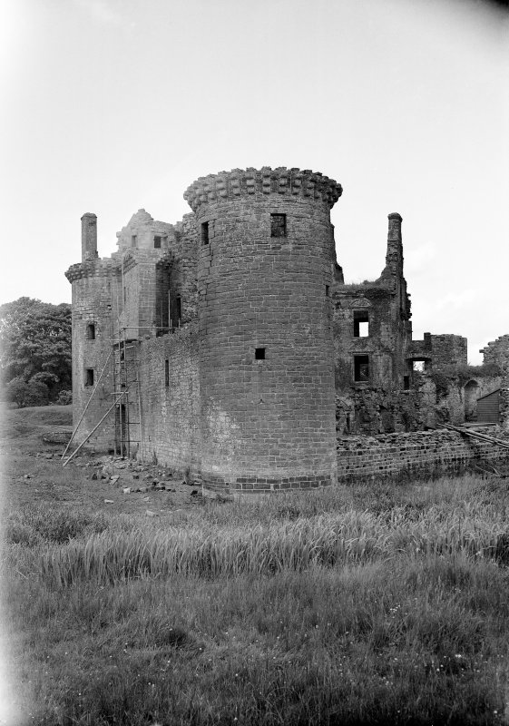 Caerlaverock Castle. View from South West.