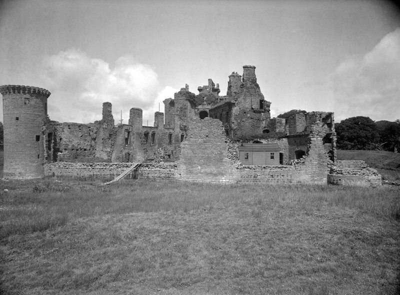 Caerlaverock Castle. General view from South.