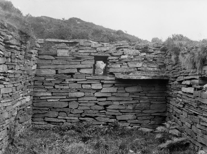 Eileach An Naoimh, Chapel, interior. View from West.