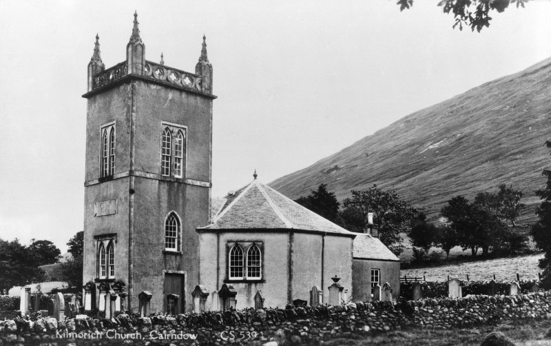 Cairndow Parish Church. General view from South-East. Insc: 'Kilmorlich Church, Cairndow  CS 539'.
