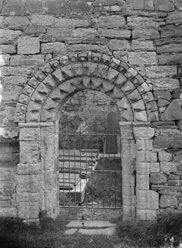 Iona, St Oran's Chapel. View of entrance doorway.