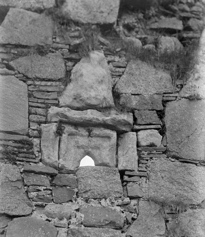 Iona, Iona Nunnery. View of window in South wall of refectory.
