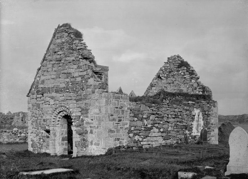 Iona, St Oran's Chapel. General view from South-West.