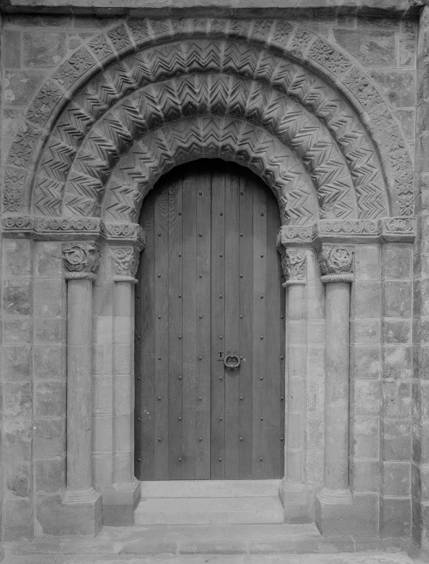 South doorway to cloister.