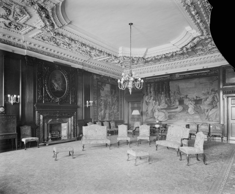 Interior-general view of Morning Drawing Room in Holyrood Palace