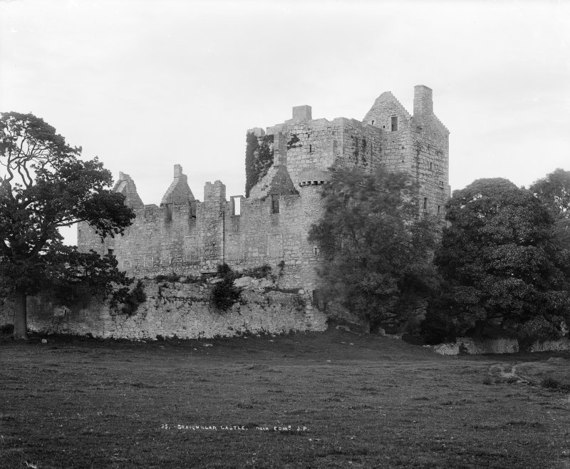 View from South West, insc: '35. Craigmillar Castle, near Edinburgh. J.P.'