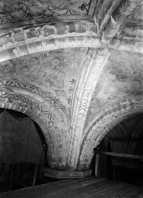 Painted ceiling of North aisle
