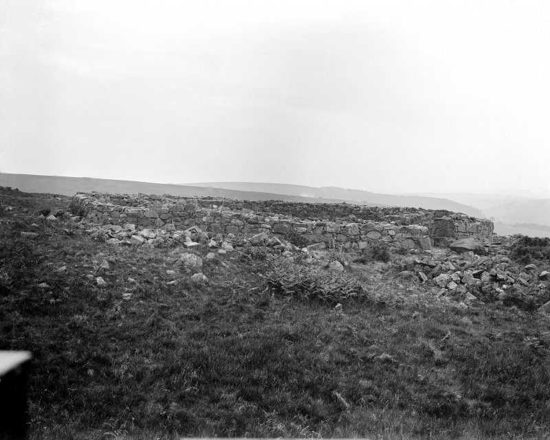 General view of remains of broch masonry
