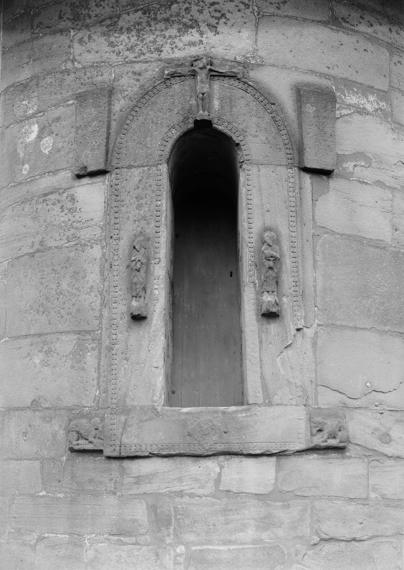 View of doorway in round tower.