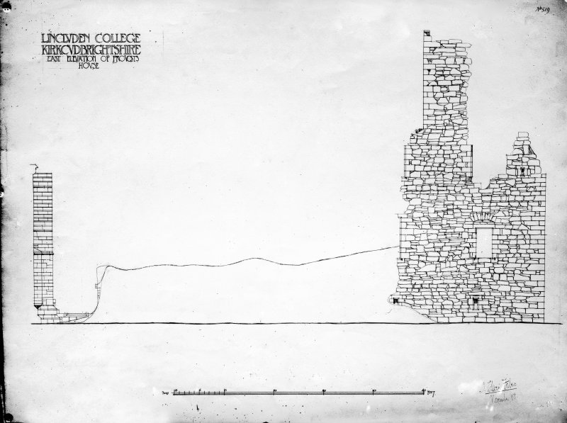 Photographic copy of drawing showing E elevation of provost's house.