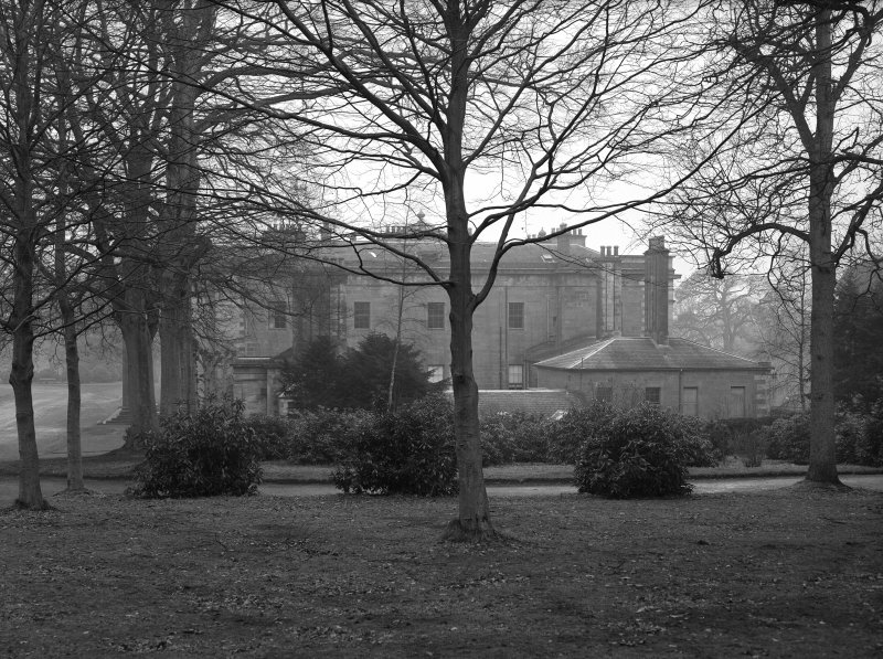 Dundee, Camperdown House. View from North through trees.