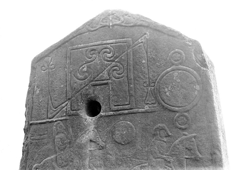 Aberlemno no 2, the Churchyard stone. Detail of reverse, showing Pictish symbols