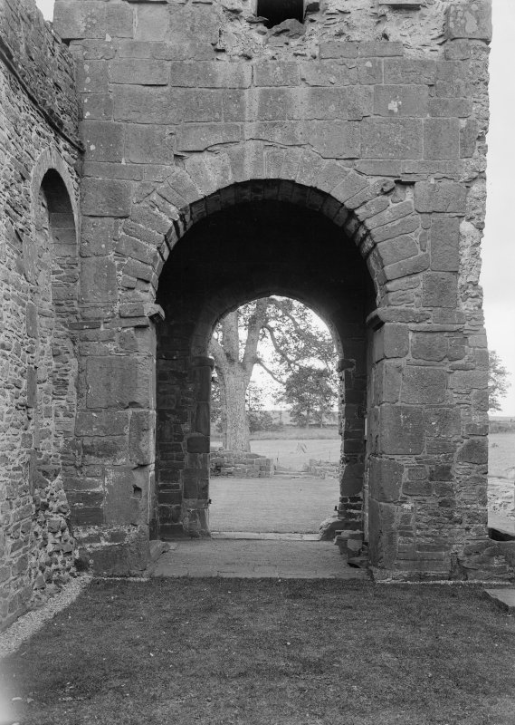 Interior. Detail of tower archway.