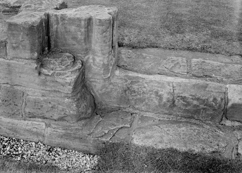 Detail of stone foundations.