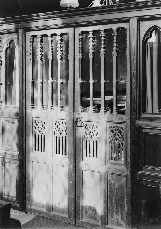 Interior. View of screen doorway.