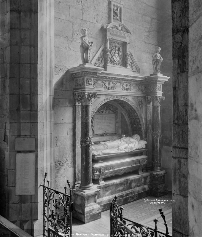 Interior-detail of Montrose Monument designed by Sir Robert Rowand Anderson