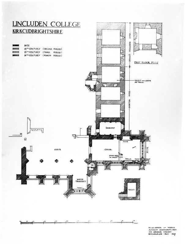 Photographic copy of drawing showing plan.