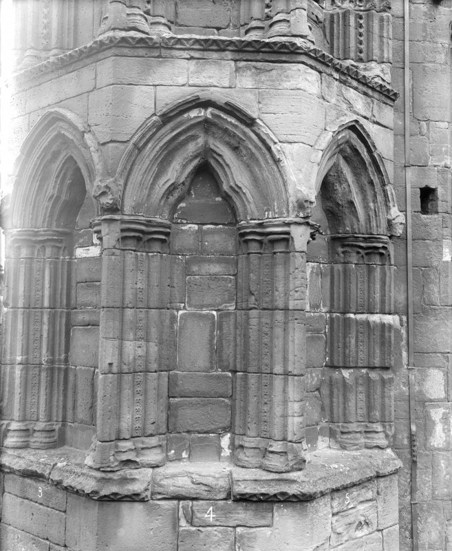 View of blind arches, lower arcade.