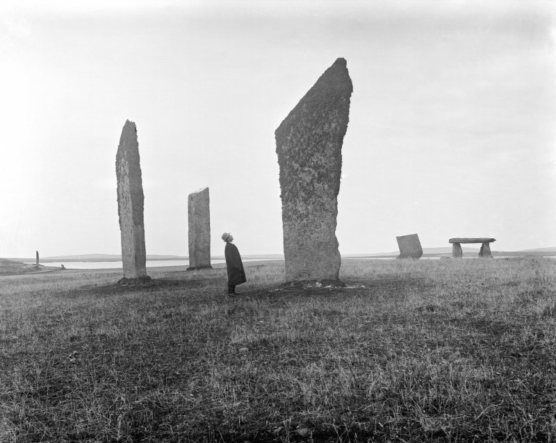 View of Stones of Stenness, Orkney in 1906.