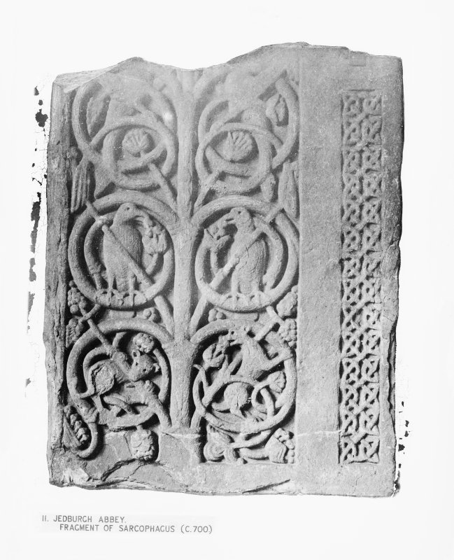 Jedburgh Abbey Fragment of sarcophagus c.700.