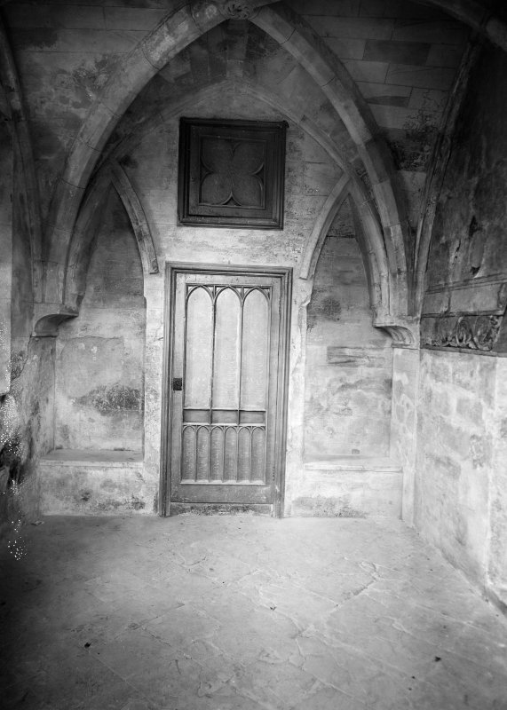 Interior. View of chapter house doorway.
