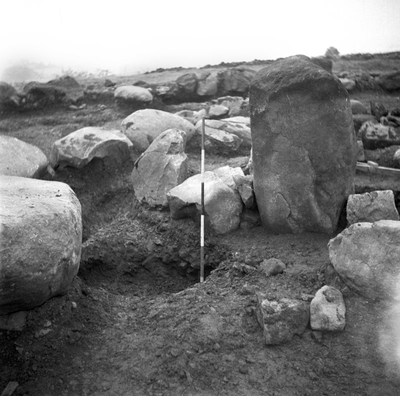 View of excavation of Cairnpapple henge and cairn, by Professor S Piggott.