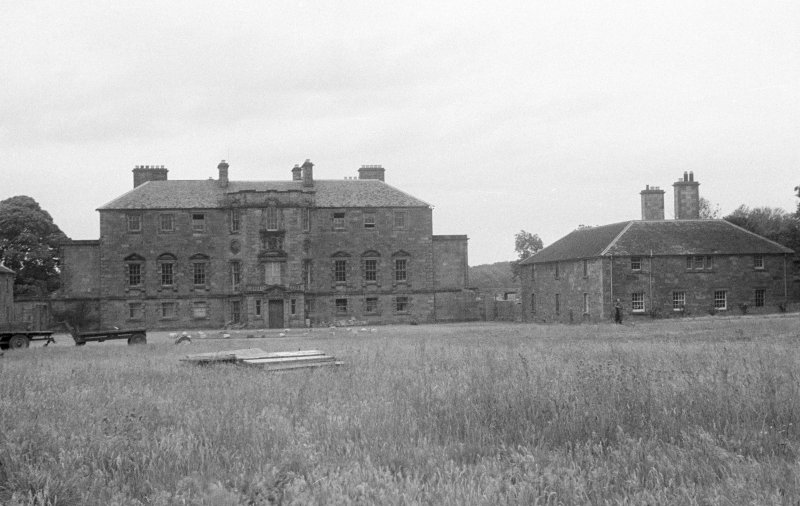 Archerfield House, view from South front in derelict state.