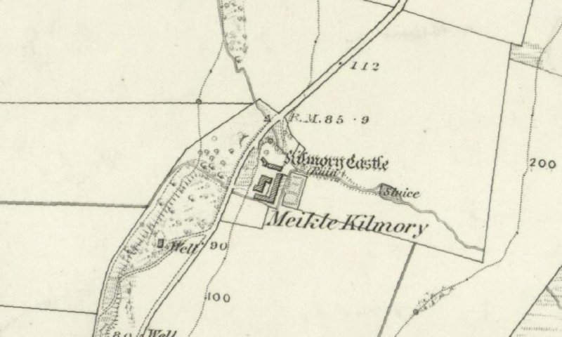 Extract from the OS 6-inch map of 1869.