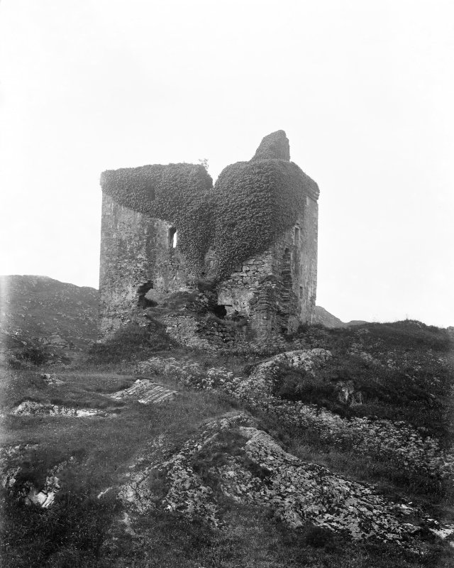 Tarbert, Tarbert Castle. View from North.