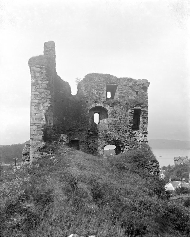 Tarbert, Tarbert Castle. View from North-East.