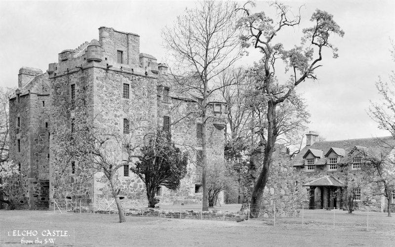 Elcho Castle. General view from South-West.