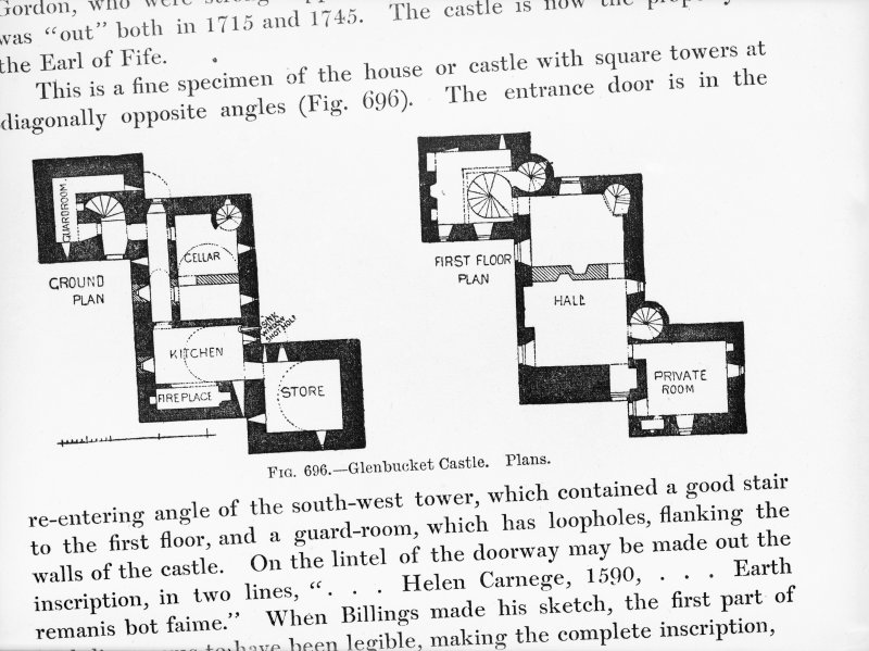 Photographic copy of drawing showing ground and first floor plans.