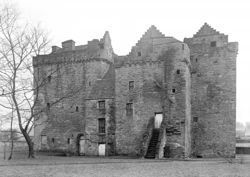 Huntingtower Castle. General view from North.