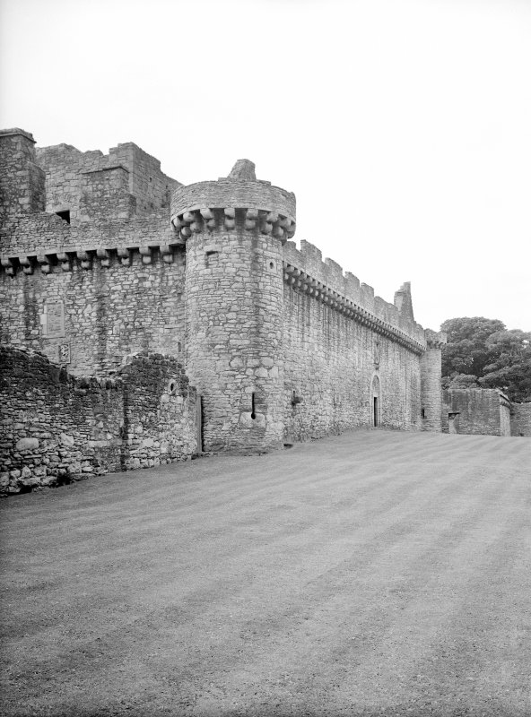 View of North front (curtain wall) from North East