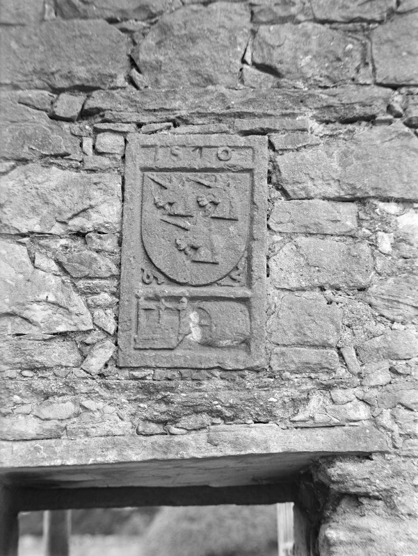 Coat of arms (Preston), West wall, North curtain.